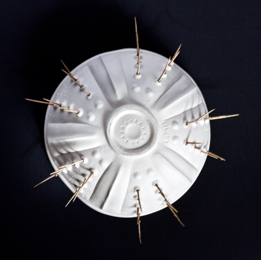 White Spiny Urchin bowl, Urchin Bowls -  artwork by Emily Miller