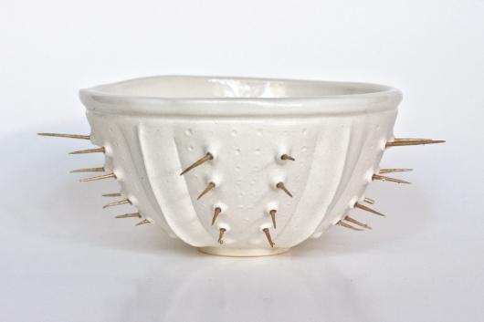 White Spiny Urchin bowl, 2017