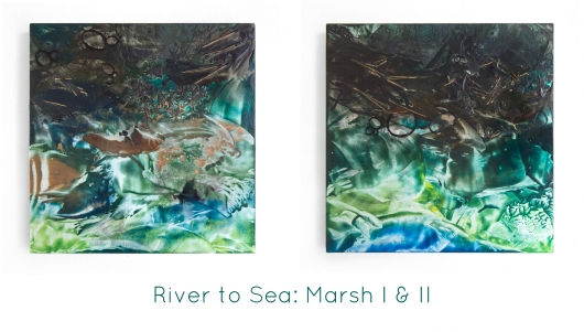 River to Sea: Marsh I, River to Sea -  artwork by Emily Miller