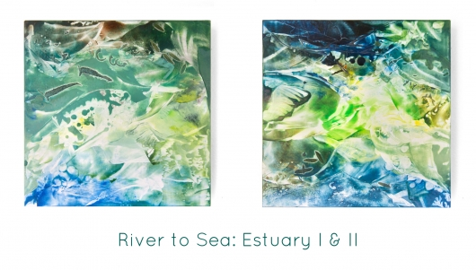 River to Sea: Estuary I, River to Sea -  artwork by Emily Miller