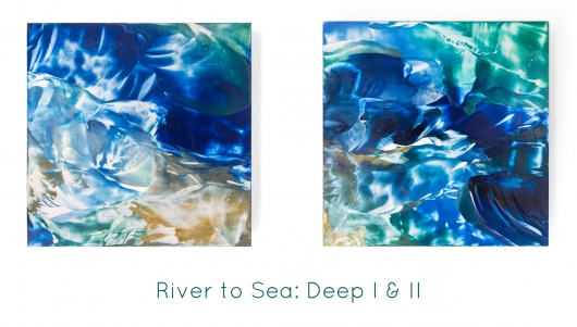 River to Sea: Deep II, River to Sea -  artwork by Emily Miller