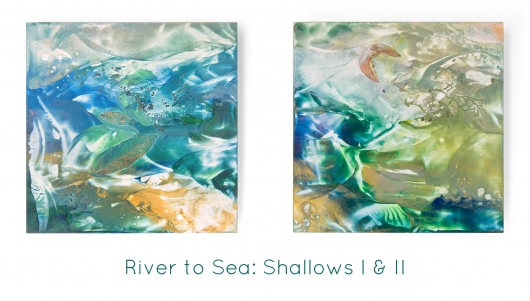 River to Sea: Shallows II, River to Sea -  artwork by Emily Miller