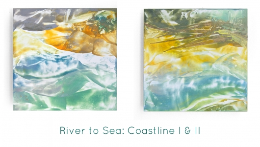 River to Sea: Coastline I, River to Sea -  artwork by Emily Miller