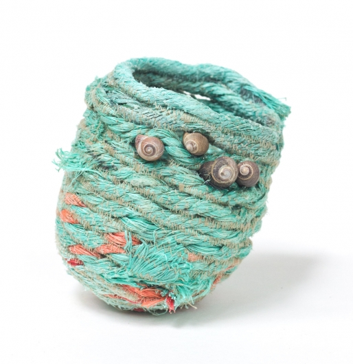 Mermaid's Purse, Ghost Net Baskets -  artwork by Emily Miller
