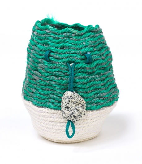 Granite Coast Basket, Rope Baskets -  artwork by Emily Miller