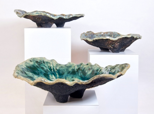 Ostrea, Ceramics - ode to the tides artwork by Emily Miller