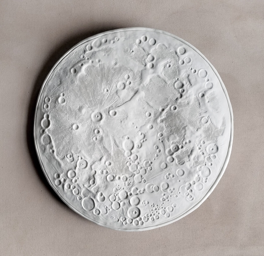 Full Moon, Large Moon Bowl, Ceramics -  artwork by Emily Miller