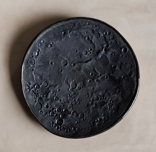Dark Moon, Large Moon Bowl, Ceramics -  artwork by Emily Miller