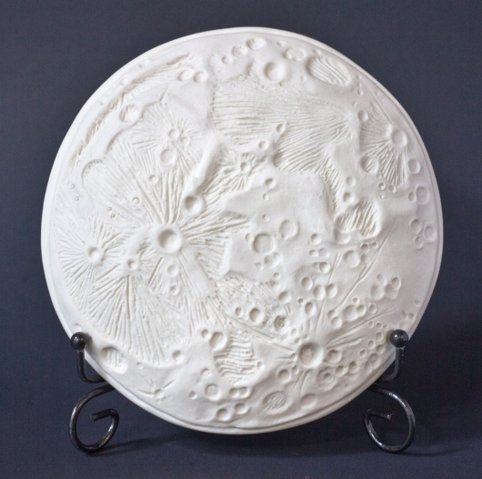 Moon Dish - Small (Full Moon Small Plate - Bare white / celadon convex), $40