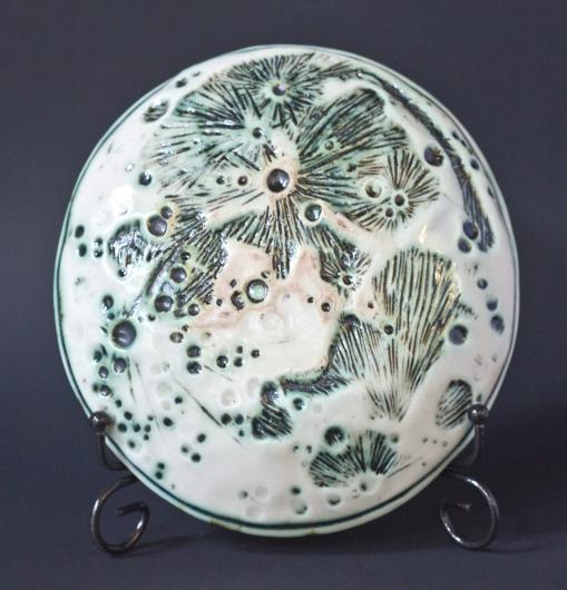 Moon Dish - Small (Full Moon Small - Green convex), $40.00