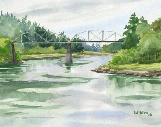 Lake Oswego Railway Bridge, Oregon, $350.00