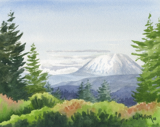 Mt. St. Helens from Marylhurst Heights, Oregon, 2018