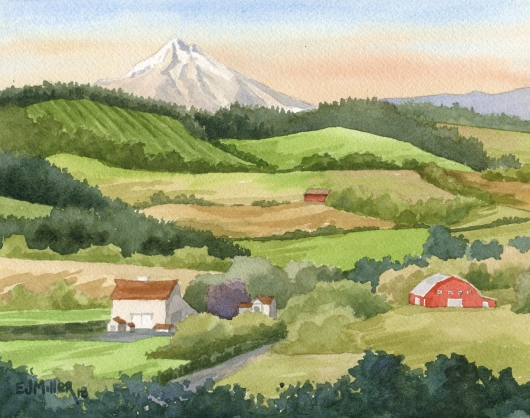 Mt. Hood Sunset from Cooks Butte, Oregon, $295