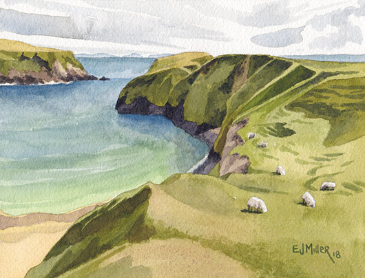 Ocean Pastures, Ireland & Europe - donegal, ireland, malin beg artwork by Emily Miller