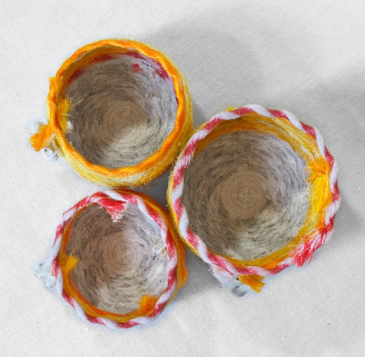 Sunrise Shell - Hawaii Baskets, Ghost Net Baskets - rope baskets artwork by Emily Miller