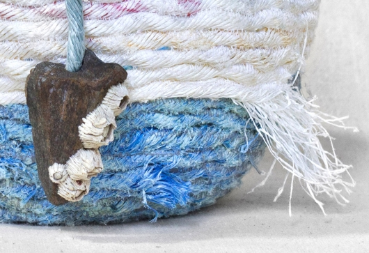 Cloudy Day - Oregon Basket, Ghost Net Baskets -  artwork by Emily Miller