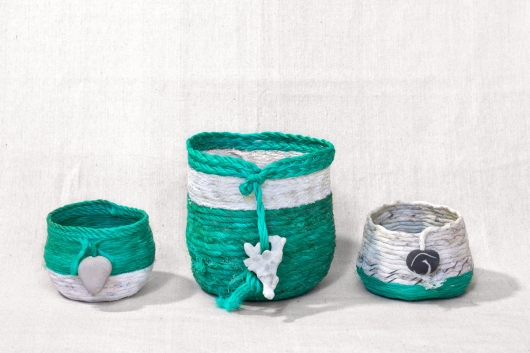 Ukidama - Japanese Oregon Baskets, Ghost Net Baskets -  artwork by Emily Miller