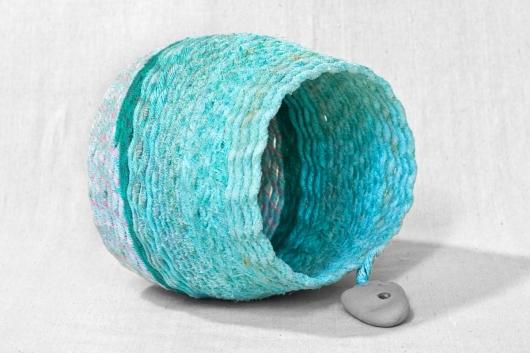 Rock Borer - Oregon Basket, Ghost Net Baskets -  artwork by Emily Miller