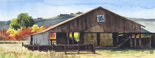 Noon at L Bar T Ranch, Countryside - forest grove artwork by Emily Miller
