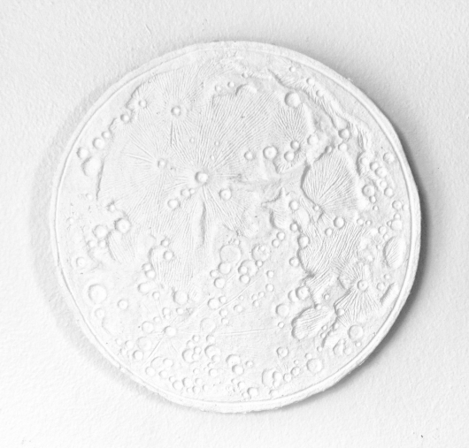 Medium size wall mounted Paper Moon, Moon Bowls - ode to the tides artwork by Emily Miller