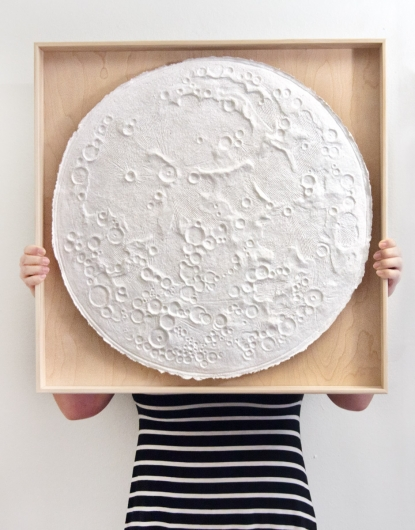 Paper Moon, Moon Bowls - ode to the tides artwork by Emily Miller