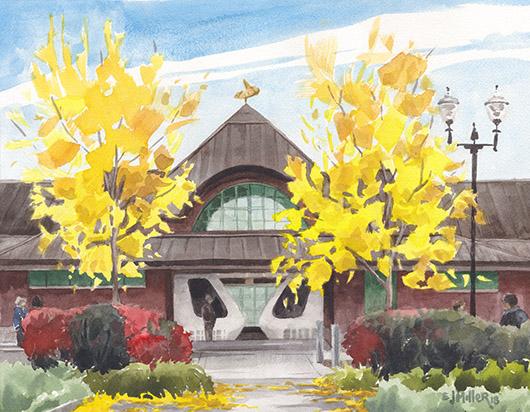 Morning MAX, Hillsboro, Countryside -  artwork by Emily Miller