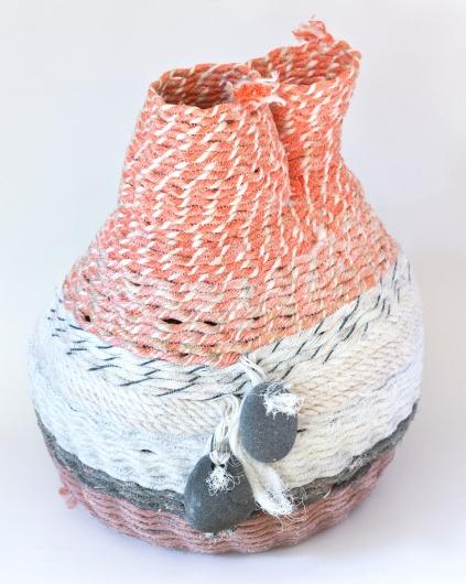 Twin Gooseneck Basket, Ghost Net Baskets -  artwork by Emily Miller