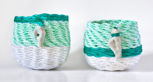 Seafoam - Hawaii Baskets, Ghost Net Baskets -  artwork by Emily Miller