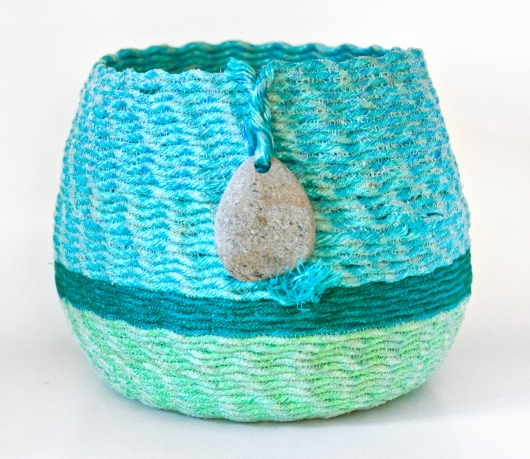 Twenty Fathom Basket, Ghost Net Baskets -  artwork by Emily Miller