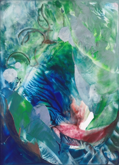 Living Waters I, ocean -  artwork by Emily Miller