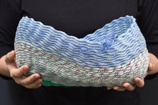 Lavender Twist Basket, Ghost Net Baskets -  artwork by Emily Miller