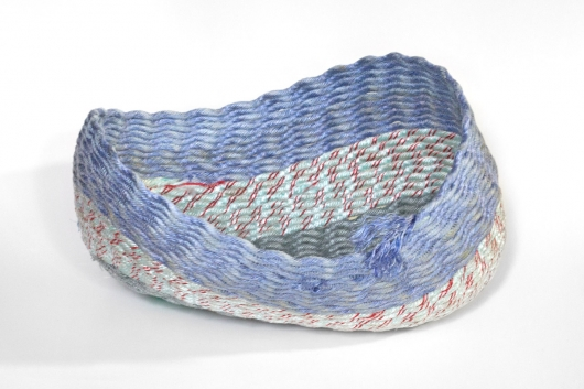 Lavender Twist Basket, Ghost Net Baskets -  artwork by Emily Miller