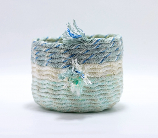 Silver Mist Baskets, Ghost Net Baskets -  artwork by Emily Miller