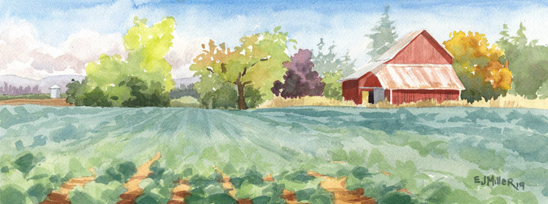 Oregon Harvest, Countryside - LPG Oregon 2019 artwork by Emily Miller