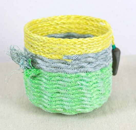 Lemon Lime Basket, Ghost Net Baskets -  artwork by Emily Miller