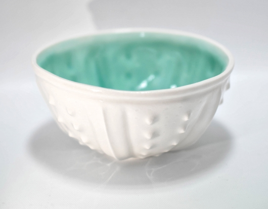 Urchin Rice Bowl - White & Aqua, $28  3  available