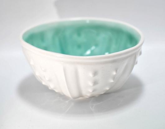 Urchin Rice Bowl - White & Aqua, 2019