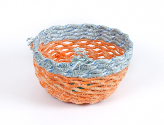 Orange Openwork Basket, 2019 •