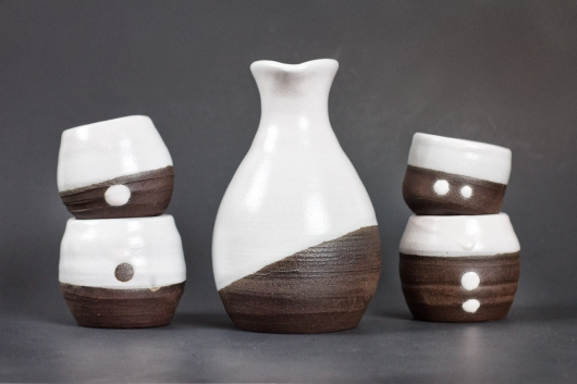 Black and White Sake Set, 2019