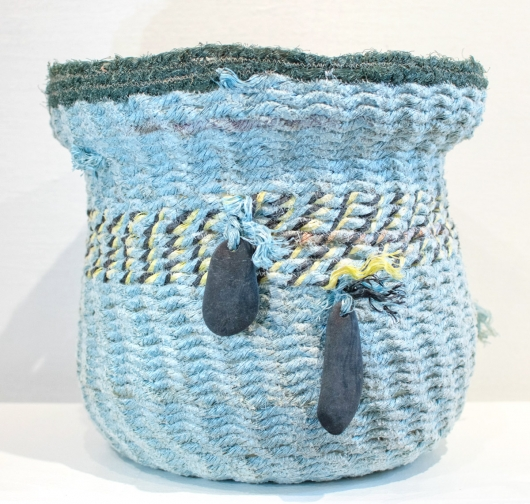 Limu Basket, Ghost Net Baskets -  artwork by Emily Miller