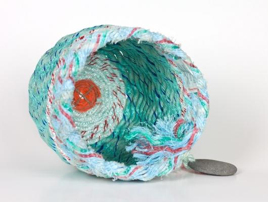 Mint Twist Baskets, Ghost Net Baskets -  artwork by Emily Miller