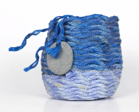 Lupine Basket, Ghost Net Baskets -  artwork by Emily Miller