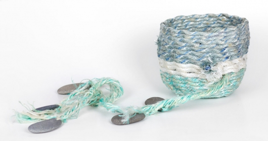 Long Line Basket, Ghost Net Baskets -  artwork by Emily Miller