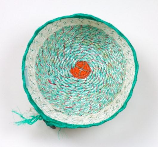 Spearmint Basket, Ghost Net Baskets -  artwork by Emily Miller