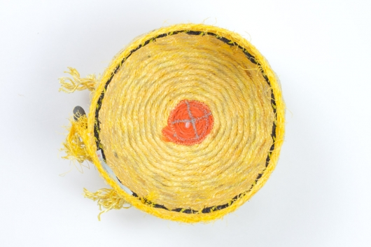 Bumblebee Basket, Ghost Net Baskets -  artwork by Emily Miller