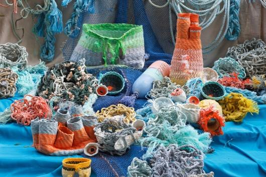 Undersea Garden, Ghost Net -  artwork by Emily Miller