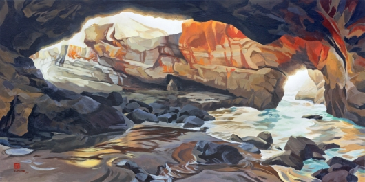 Crucible, Devil's Punchbowl, Oregon Coast -  artwork by Emily Miller