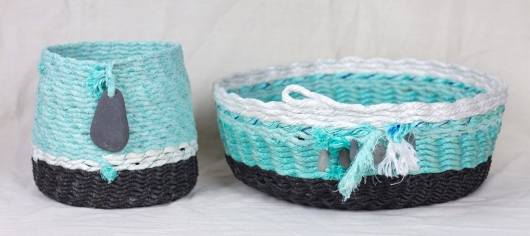 Glacial Coast Baskets, Ghost Net Baskets -  artwork by Emily Miller