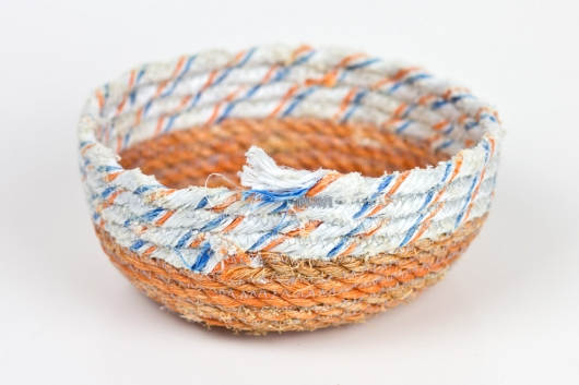 Orange Base Mini Bowls (White Stripe), $50.00