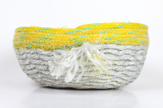 Bright Day Baskets, Ghost Net Baskets -  artwork by Emily Miller